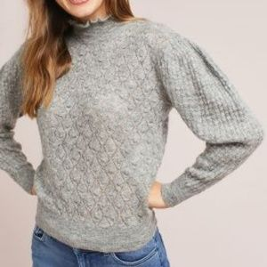 Anthropologie Puffed Turtleneck knitted & knotted